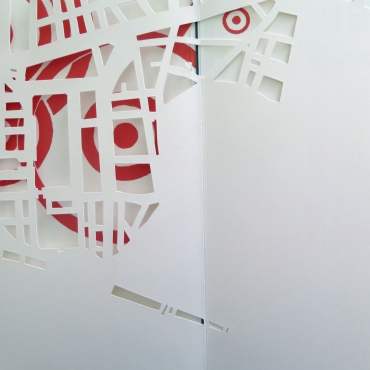 artist-book cut-out spots maps
