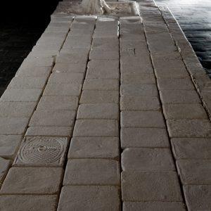 instalation pavement ceramics sculpture
