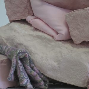 installation porcelain pink wall textile